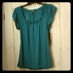 B1G1: Daisy Fuentes Flutter Sleeve Blouse Top